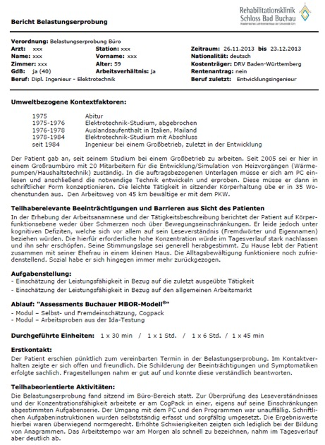 praxisbeispiel interne belastungserprobung buchauer mbor modell ...
